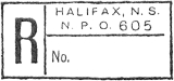 Halifax NPO 605 registration marking
