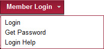 Member Login drop-down menu